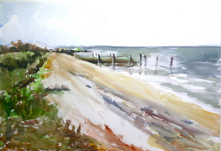 Artist: Maryann Burton - Title: Sunset Beach North - Medium: Watercolor - Year: 2008