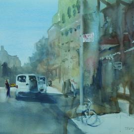 White Van in the City
