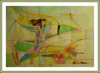 Yorgos Maryelis: 'on the wind', 2005 Mixed Media, Expressionism.