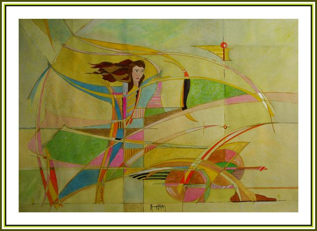 Yorgos Maryelis  'On The Wind', created in 2005, Original Painting Acrylic.