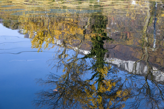 Color Photograph by Mary Mansey titled: Reflets Montagne, created in 2010