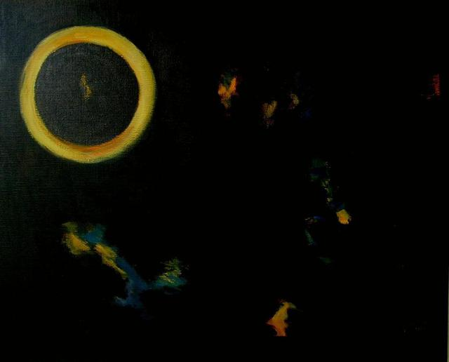 Michal Ashkenasi  'Eclipse ', created in 2005, Original Painting Oil.