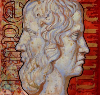 Yaroslav Kurbanov: 'two faced janus', 2009 Acrylic Painting, Philosophy. Artist Description: Empire Aesthetics...