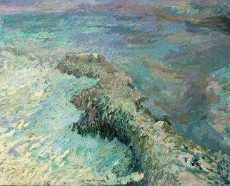 Renata Szpunar Kubczyk Artwork WATER ROCK  AIR, 2005 Oil Painting, Landscape