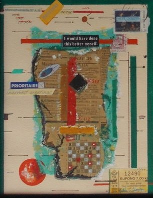 Matthew Thompson: 'Priority Collage ', 2000 Collage, Abstract. Artist Description:   Collage of discovery...