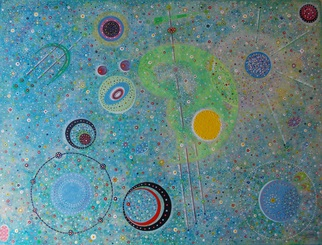 Acrylic Painting by Matthew Thompson titled: cosmos 3, 2014