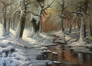 Maxmilian Ciccone Artwork Winter Forest, 2013 Oil Painting, Landscape