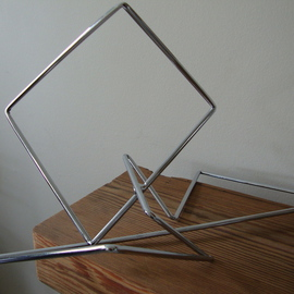 Max Tolentino: 'GEOMETRY', 2016 Steel Sculpture, Abstract. Artist Description:  Steel sculpture in chromed wire , not available ...