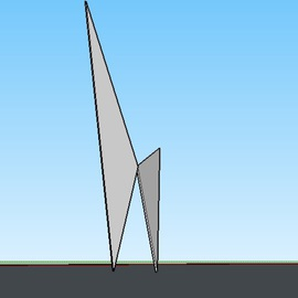 Max Tolentino: 'Liberty ', 2016 Steel Sculpture, Abstract. Artist Description:  Design for a steel structure in cortain steel         Design for a sculpture in cortain steel    ...