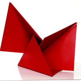 Max Tolentino: 'ORIGAMI', 2008 Steel Sculpture, Abstract. Artist Description:  Steel painted sculpture, not ready for delivery ...