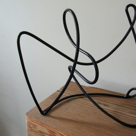 Max Tolentino: 'Tarsila ', 2010 Steel Sculpture, Abstract. Artist Description: steel sculpture in drawn wire. part of a new series of abstract scultuptures with a focus on empty spaces. technique  cutting, bending and welding. To be ordered . It can also be produced in stainless steel. ...