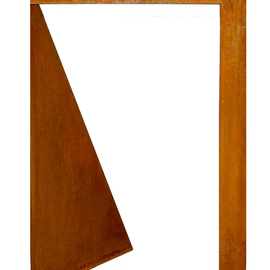 Max Tolentino: 'UNTITLED ', 2017 Steel Sculpture, Abstract. Artist Description: Geometric abstract in cortain steel ...