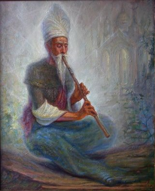 Music Oil Painting by Igor Maykov Title: melody, created in 2008