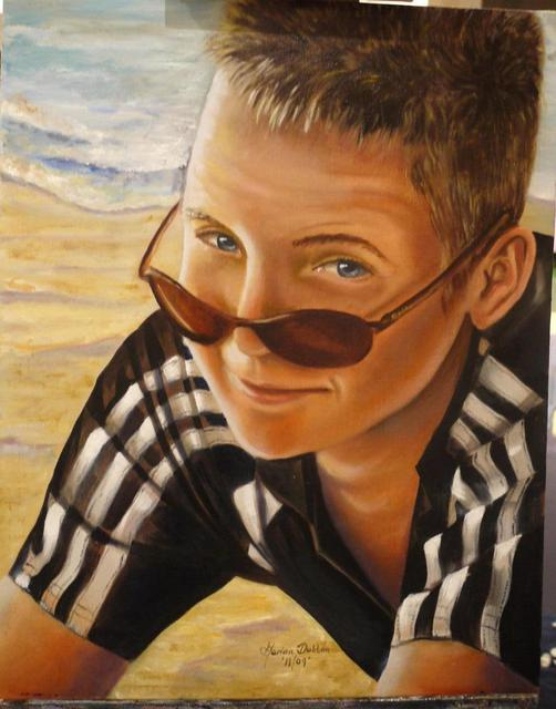 Marion Dutton  'Portait Of Ashley', created in 2010, Original Painting Oil.