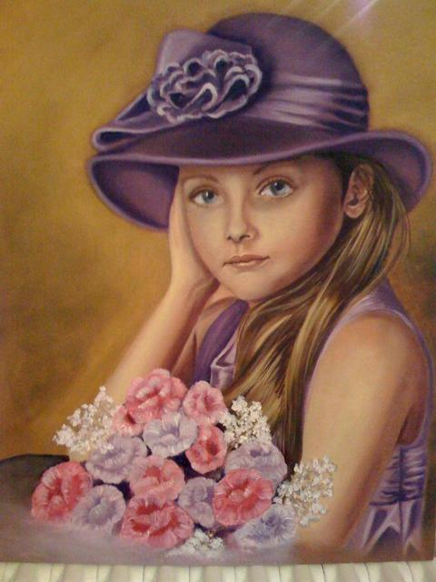 Marion Dutton  'Portrait Of Sophie', created in 2010, Original Painting Oil.