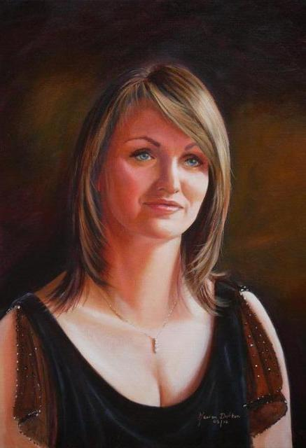 Marion Dutton  'Self Portrait', created in 2010, Original Painting Oil.