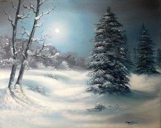Marion Dutton Artwork Silent Night, 2011 Oil Painting, Landscape