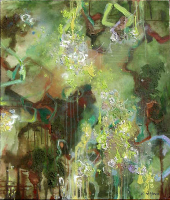 Valerie Hoffmann  'LICHEN 2', created in 2007, Original Painting Acrylic.