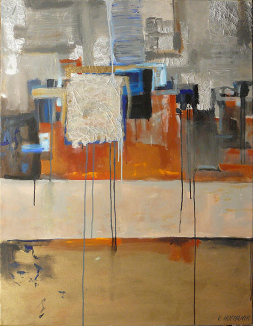Valerie Hoffmann  'URBAN LANDSCAPE', created in 2009, Original Painting Acrylic.