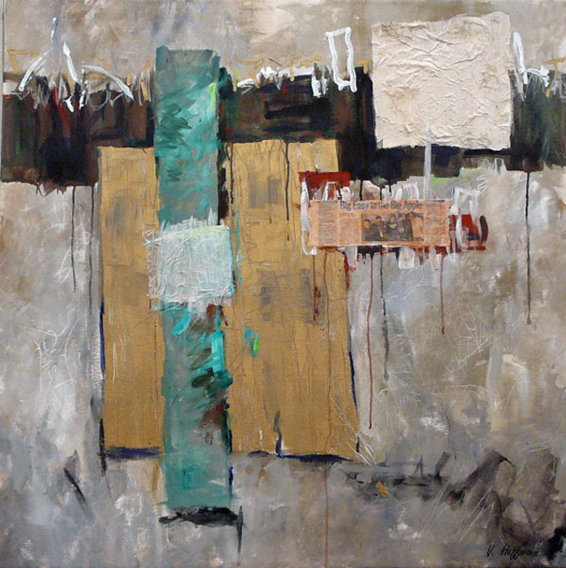 Valerie Hoffmann  'URBAN LANDSCAPE 2', created in 2009, Original Painting Acrylic.