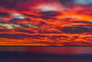 Mcclean Photography: 'fire and brimstone', 2019 Color Photograph, Landscape. Artist Description: San Diego is known for majestic and heavenly scenery, but this particular day reminded me of hell. The sky burned with fire and fury. This was taken at Pacific Beach during a fall evening. ...