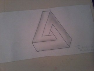 Zach Mcclendon: 'Impossible Triangle', 2016 Pencil Drawing, Geometric. Artist Description:  This is an impossible triangle which is a very cool 3d shape that has a weird look to it almost an illusion ...