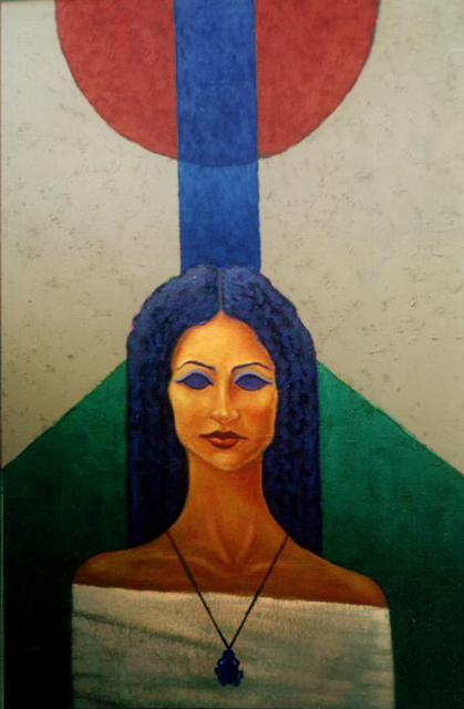 Mohamed Abdeldayem  'Mother Land', created in 2002, Original Painting Oil.
