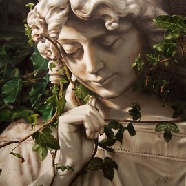 Mike Jones: 'Ivy Angel', 2006 Oil Painting, Figurative. Artist Description:  This painting changed my life. . . more than once ...