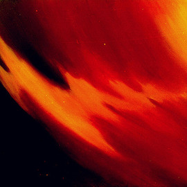 Meena Chopra Artwork Fire, 1986 Oil Painting, Abstract