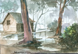 Artist: Mintu Maji - Title: after rain - Medium: Watercolor - Year: 2013