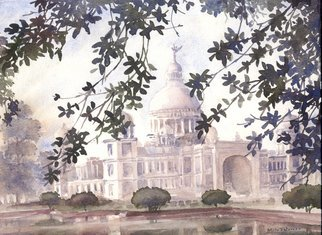 Artist: Mintu Maji - Title: landscape kolkata - Medium: Watercolor - Year: 2013