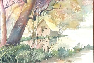Artist: Mintu Maji - Title: riverside - Medium: Watercolor - Year: 2013