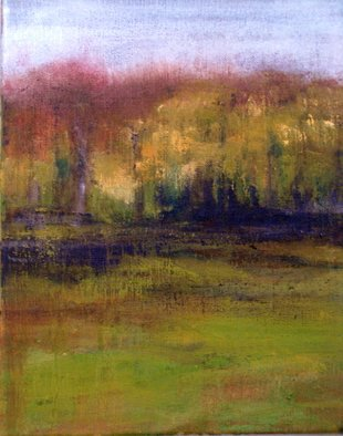 Artist: Melanie Williamson - Title: Late Afternoon, Speyside - Medium: Oil Painting - Year: 2007