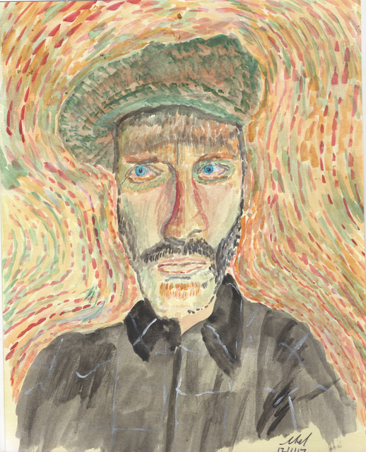 Mel Beasley  'Man In A Cap', created in 2018, Original Painting Other.