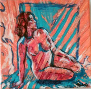 Melcha C: 'Nostalgie', 2008 Acrylic Painting, nudes.    Acrylic and mixed media on canvas.           ...