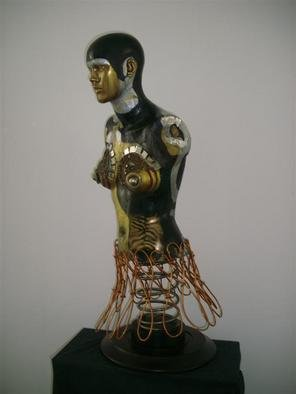 Selin Melek Aktan: 'Beauty of day', 2009 Mixed Media Sculpture, Figurative. Artist Description:                Selin Melek Aktan, woman, fashion, cloths, figurative, bronze, human, people, mixed media, night, beauty, avangard sculpture, art contemporary, day        ...