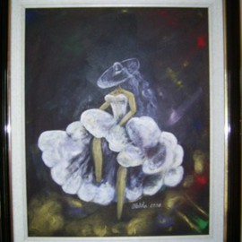 Meliha Druzic Artwork KANKAN, 2008 Acrylic Painting, Theater