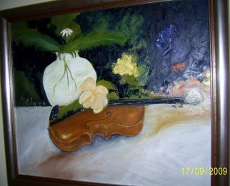 Music Oil Painting by Meliha Druzic Title: Violine, created in 2009