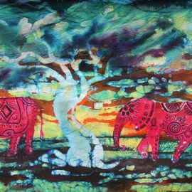 Melissa Burgher Artwork 3 Red Elephants, 2015 Other, Animals
