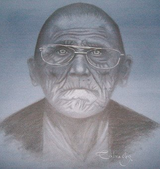 Melissa P. Cabrales Artwork abuelito, 2011 Charcoal Drawing, People