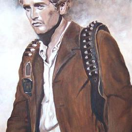 Carmella D'auria: 'Butch Cassidy', 2002 Acrylic Painting, Portrait. Artist Description: Paul Newman as