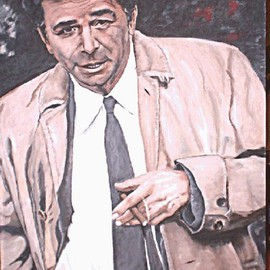 Carmella D'auria: 'Columbo', 2002 Acrylic Painting, Portrait. Artist Description: Peter Falk as