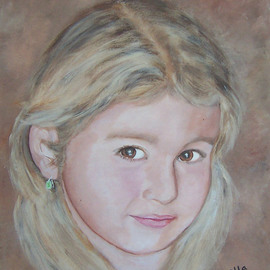 Carmella D'auria Artwork Gianna, 2008 Acrylic Painting, Portrait