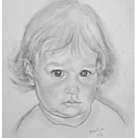Carmella D'auria: 'Nicole Marie', 2002 Pencil Drawing, Children. Artist Description: granddaughter Nicole Marie at 15 months old...