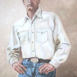 Carmella D'auria: 'Paul Newman', 2002 Acrylic Painting, Portrait. Artist Description: Paul Newman in color acrylics...