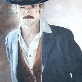Carmella D'auria: 'Sundance', 2002 Acrylic Painting, Portrait. Artist Description: Robert Redford as