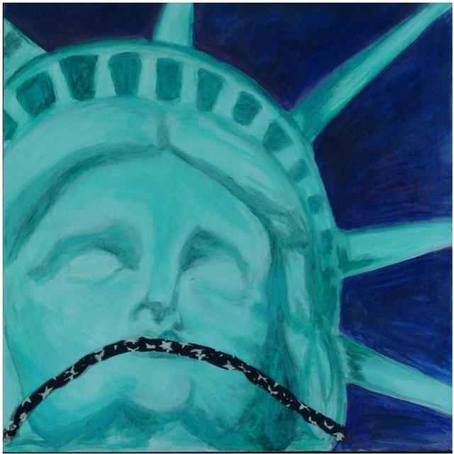 Mel Sotis-Presley  'Land Of The Free', created in 2003, Original Painting Acrylic.