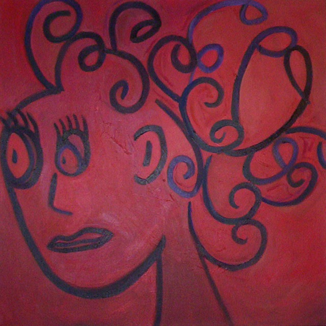 Artist Mel Sotis-Presley. 'Subconscious Lady' Artwork Image, Created in 2008, Original Painting Acrylic. #art #artist