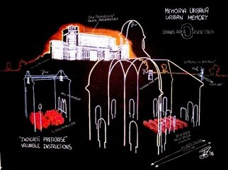 Juan Garaizabal Artwork Scketch IV Memoria Urbana Bucarest, 2008 Other Drawing, Conceptual