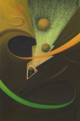 Abd�as M�ndez Robles: 'Infinitus', 2008 Oil Painting, Surrealism.